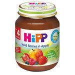 HIPP Био Бебешко пюре/горски плодове и ябълка/4м+ 125 гр.